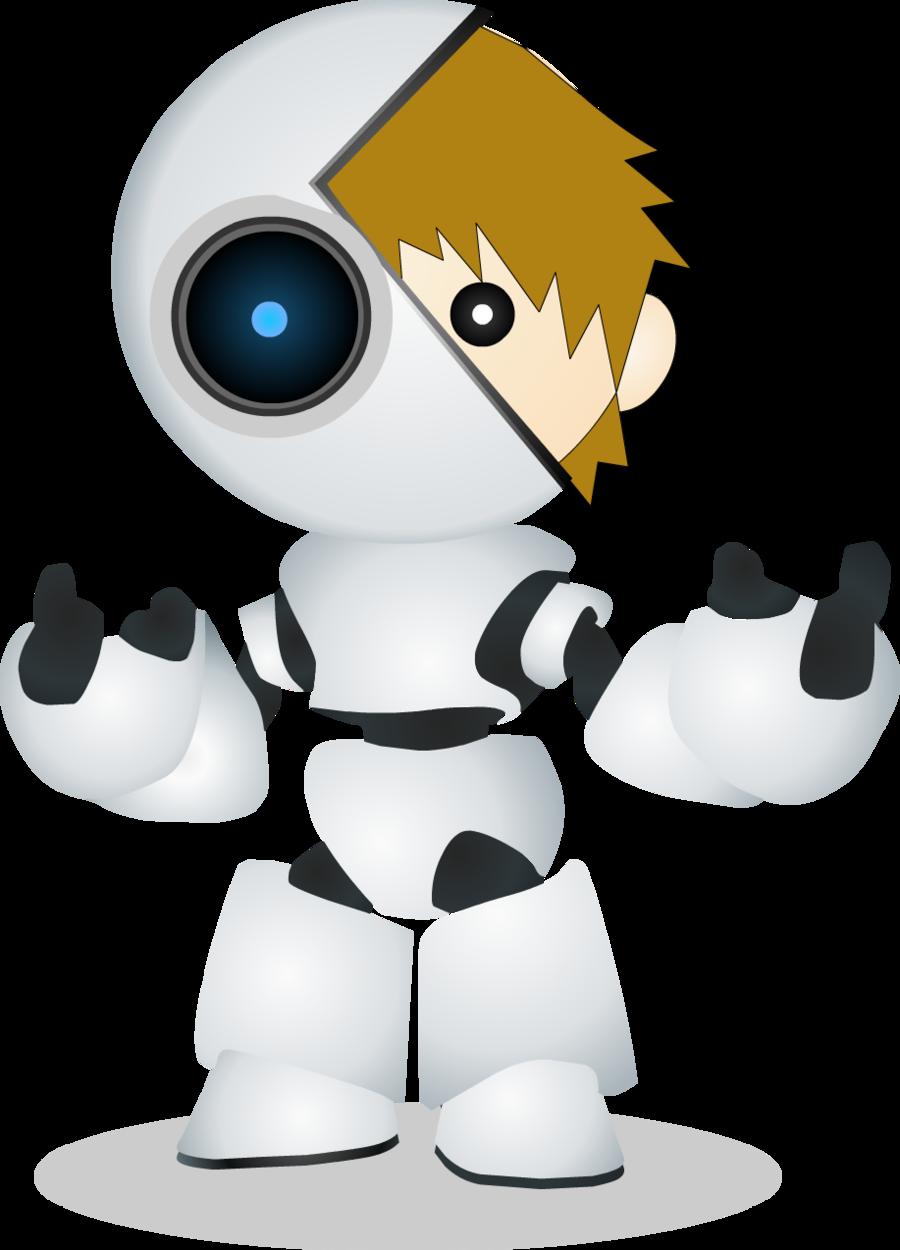 banner transparent stock ROBOT HALF HUMAN Chibi by acitjazz on DeviantArt