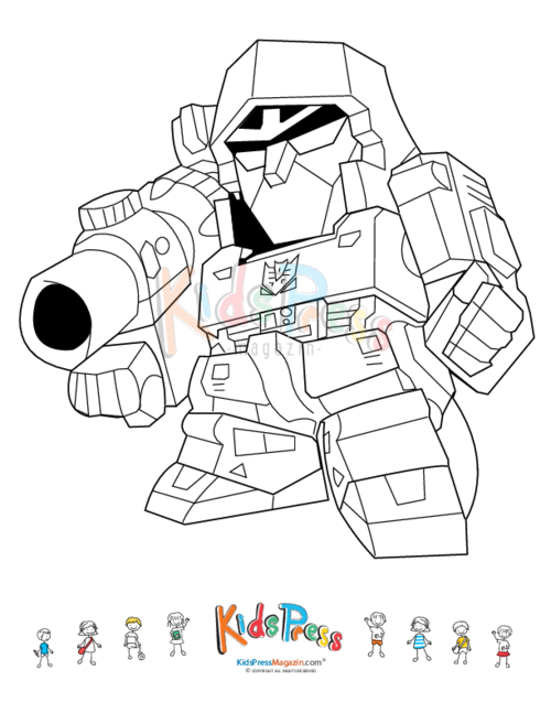 picture freeuse download Robot Coloring Pages