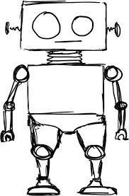 graphic free drawing robots robat #134860780