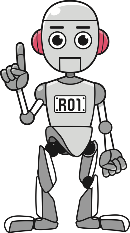 clipart library Drawing silhouette robot. Robotics robotic process automation