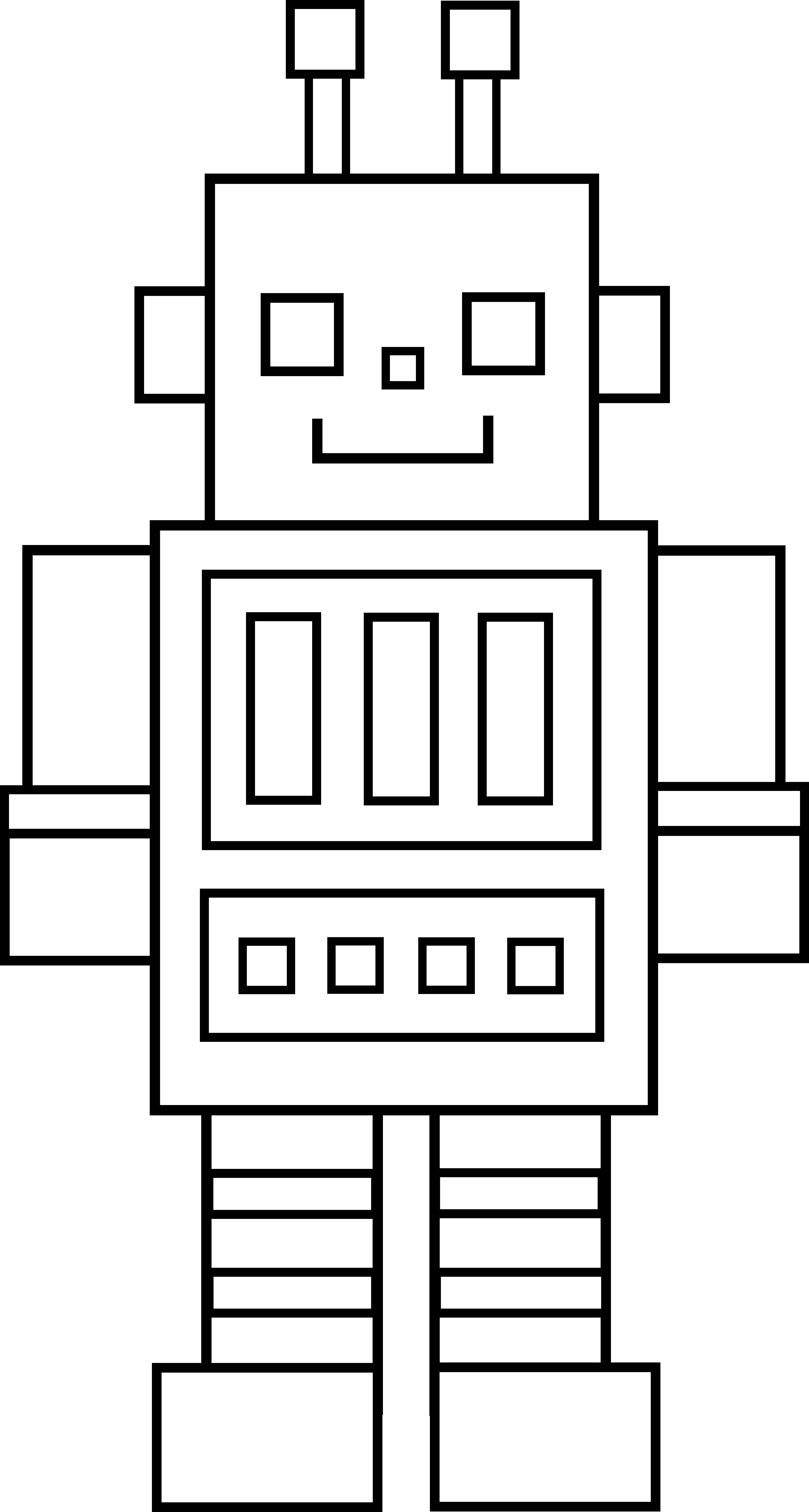 image black and white library drawing robots simple #95484554