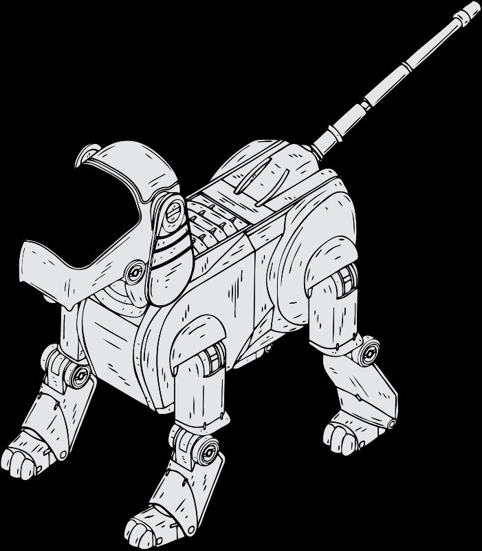vector library download drawing robots sketch #95482878