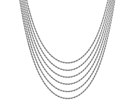 picture black and white Sterling silver diamond cut. Drawing rope chain