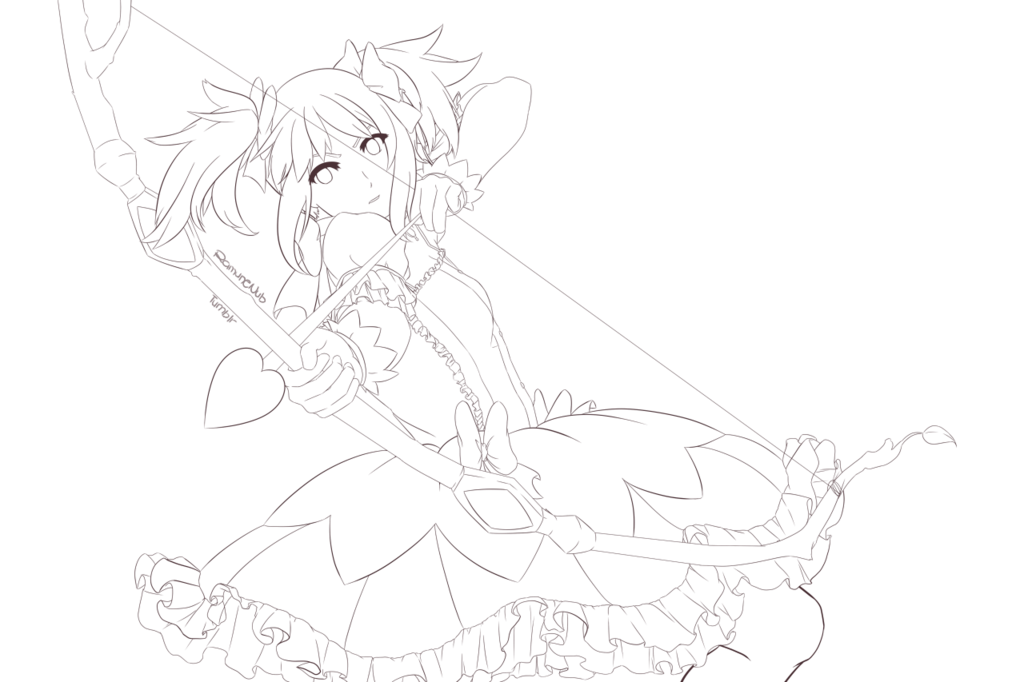 png transparent download Drawing ruffles. Kaname madoka lineart by