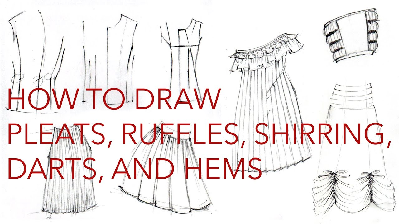 graphic freeuse Clothes pleats hems darts. Drawing ruffles.