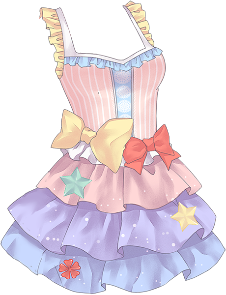 banner royalty free library Drawing ruffles anime. Girl sea ocean dress