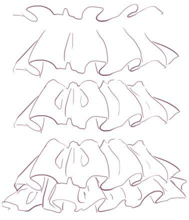stock Pin on clothing reference. Drawing ruffles anime