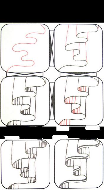 vector freeuse stock Drawing ruffles zentangle.  drape by christina