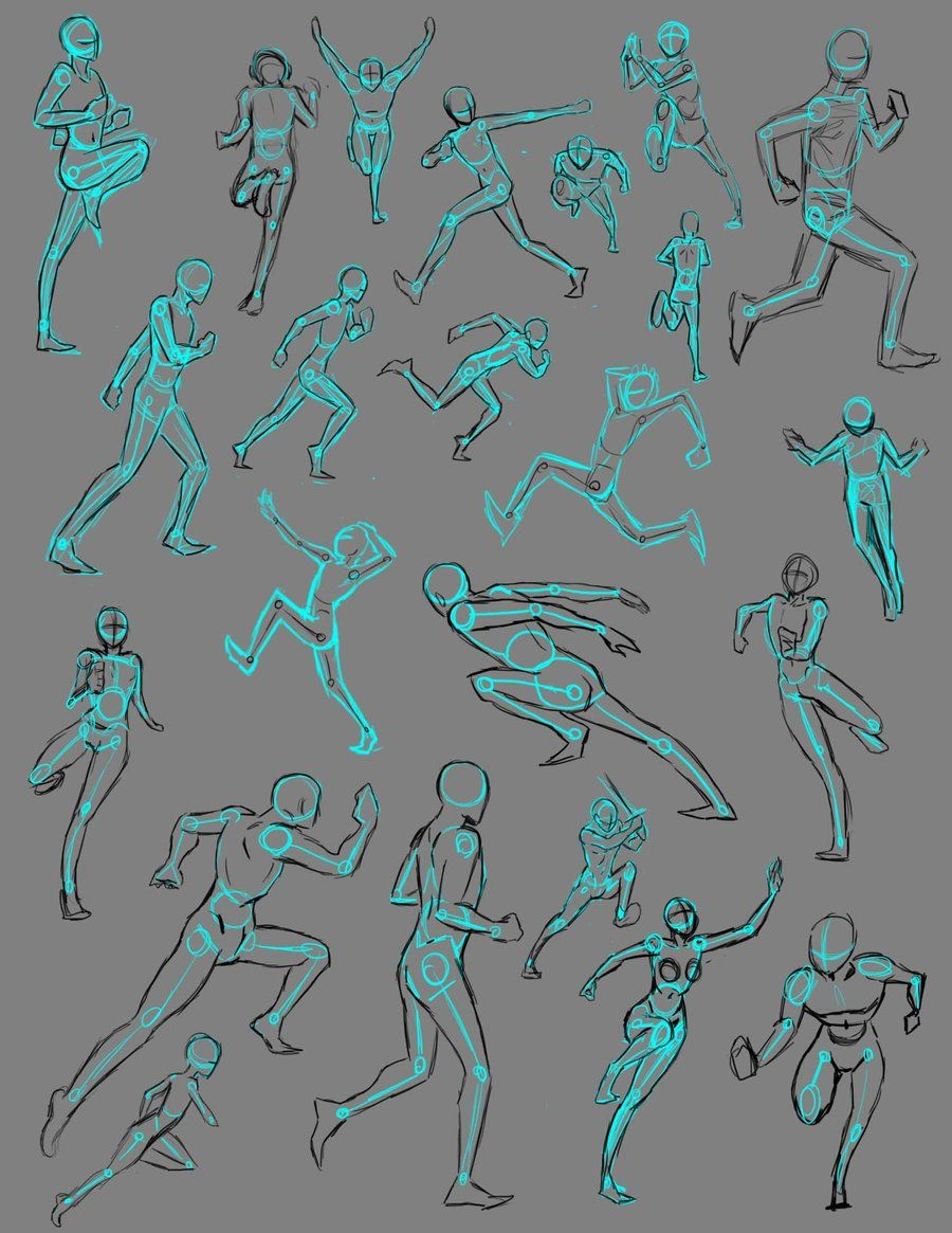 vector black and white library Drawing running pose. Poses by thealtimate on