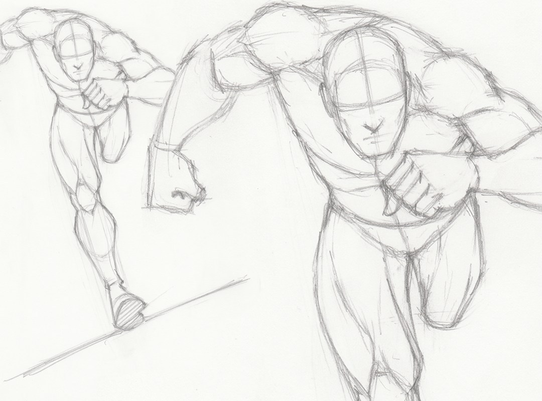 picture free stock How to draw a. Drawing running pose
