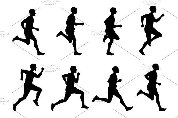 png download Jogging man athlete runner. Drawing running vector