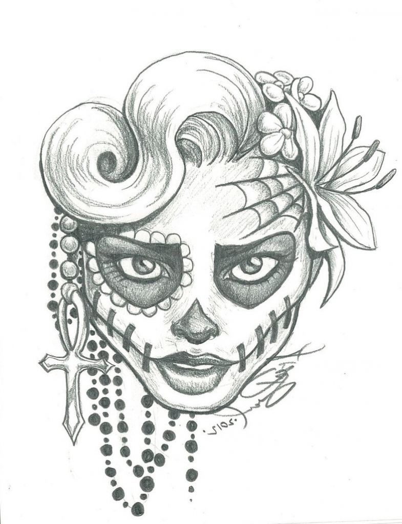 clipart freeuse library At paintingvalley com explore. Drawing s sugar skull