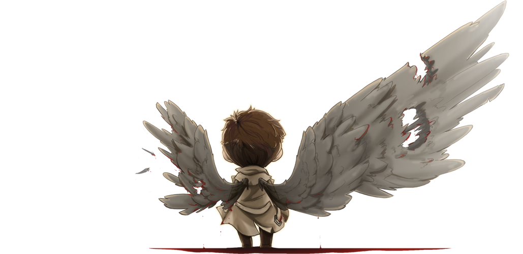 graphic library download A whole castiel by. Drawing sad fallen angel