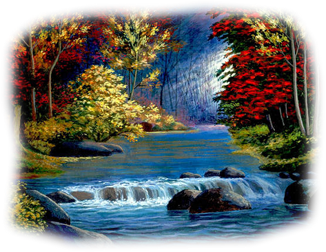 free library Tubes paisagens art fantesy. Drawing nature waterfall