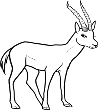 black and white Collection of free Africa drawing wildlife