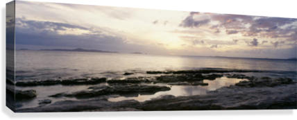 clipart freeuse download Sunrise Over Ocean And Rocky Coastline