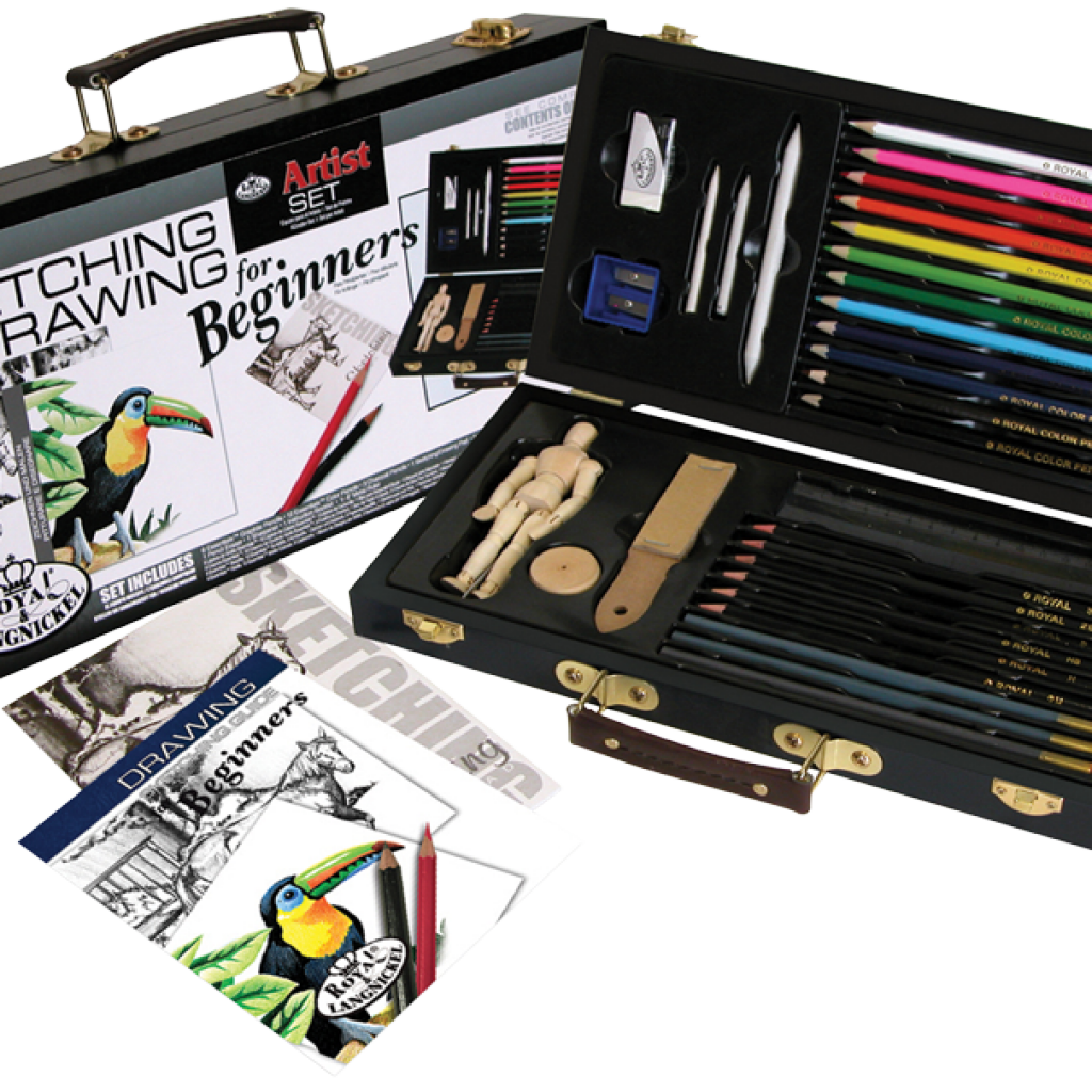 png black and white Drawing sets. Painting for beginners best