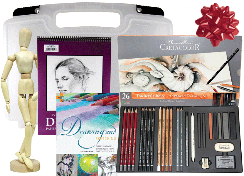 svg freeuse download Pencil gift from rex. Drawing sets