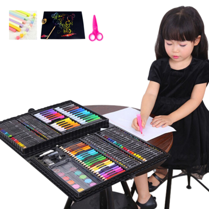 image free library Children s brush crayon. Drawing sets