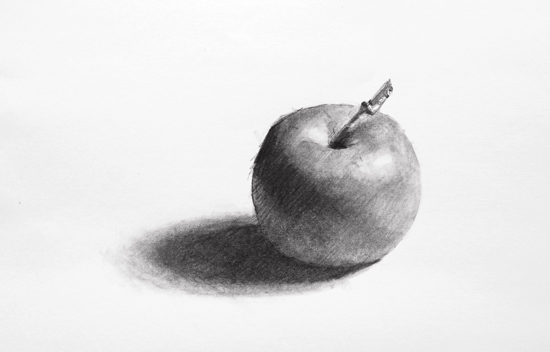 black and white Shaded drawing. How to shade a