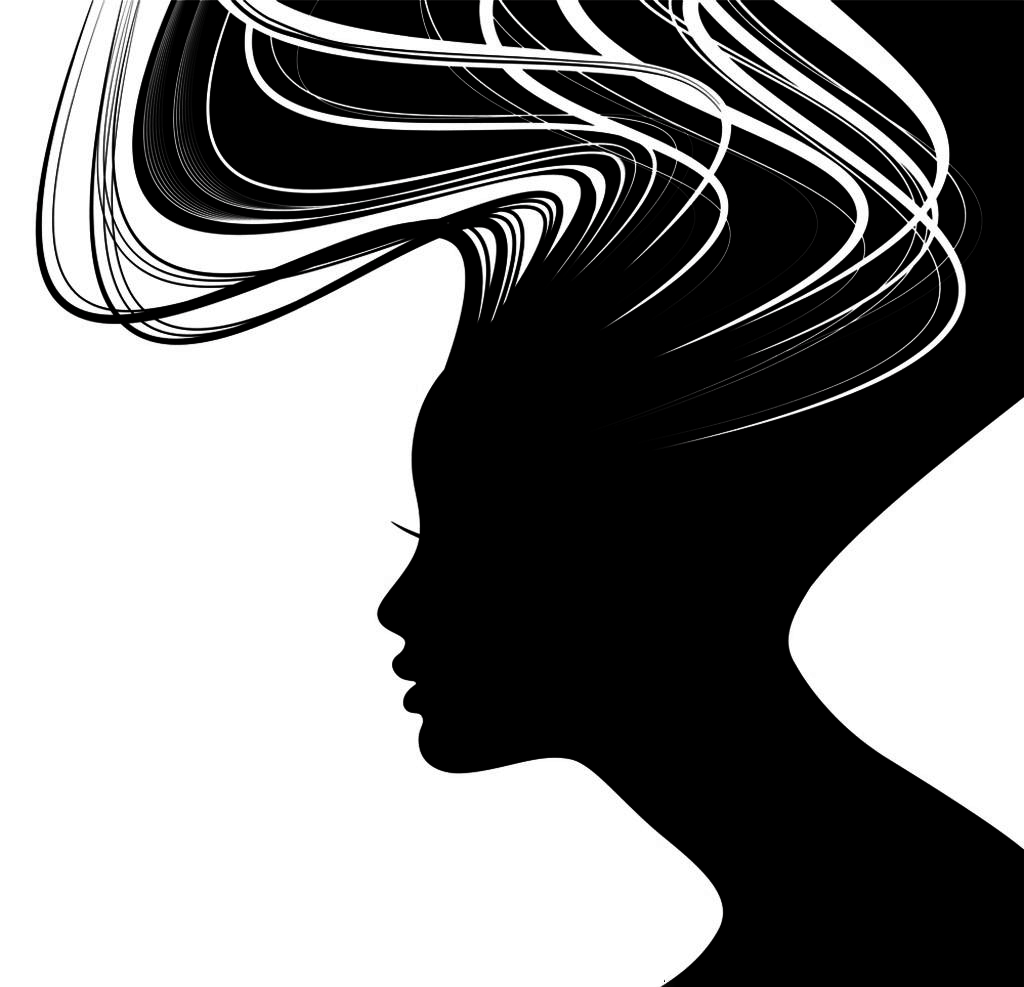 picture royalty free library Woman silhouette face illustration. Drawing neck shadow