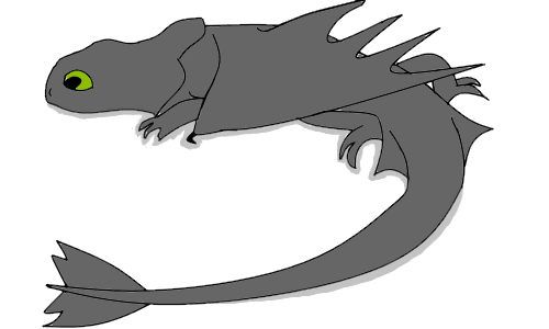 png black and white library Fury fan dragon school. Drawing neck shadow