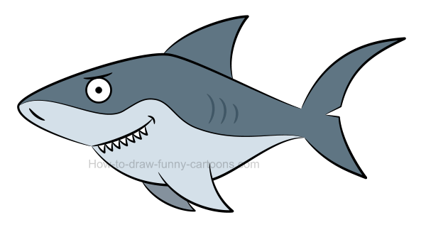 clipart free download Drawing sharks basic. How to draw a