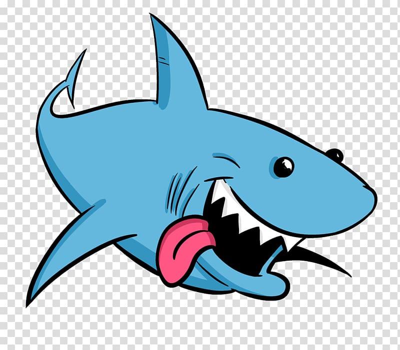 clip royalty free library Drawing sharks blue shark. Animation cartoon