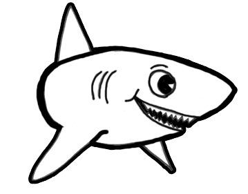 royalty free library Drawing sharks cartoon. How to draw with
