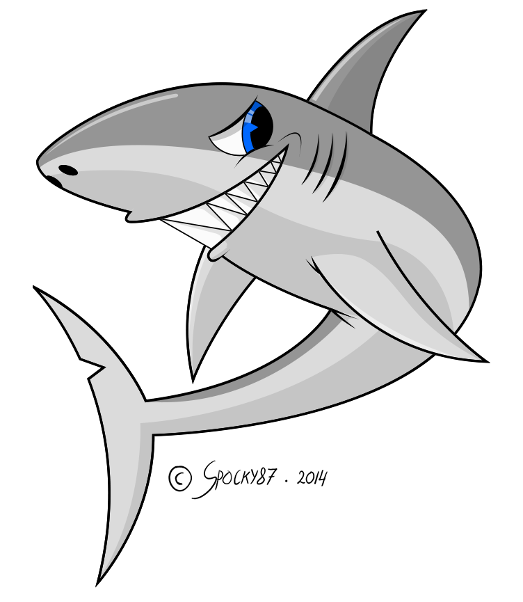 banner transparent Shark colored by spocky. Drawing sharks color
