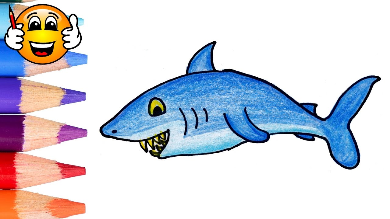 clip art transparent Coloring pages for kids. Drawing sharks color