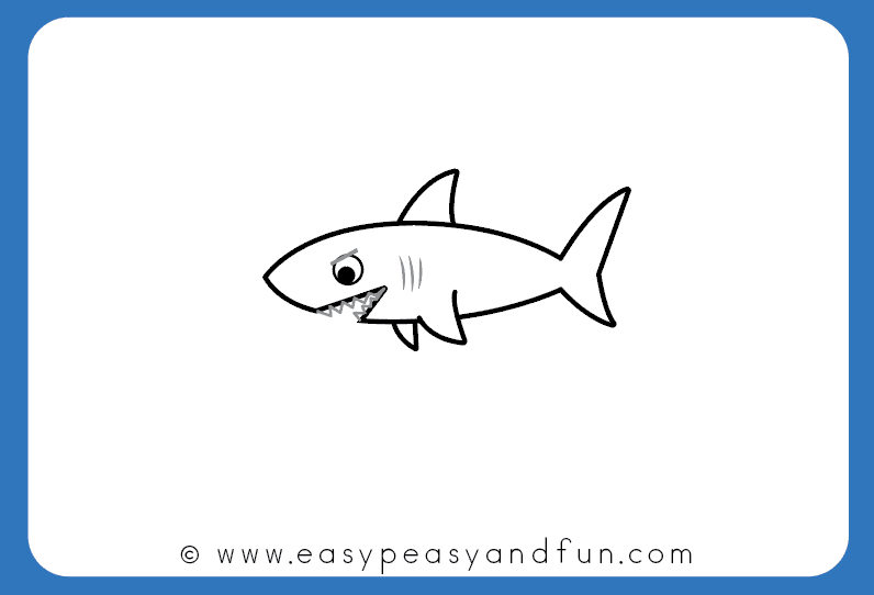svg black and white download How to draw a. Drawing sharks easy