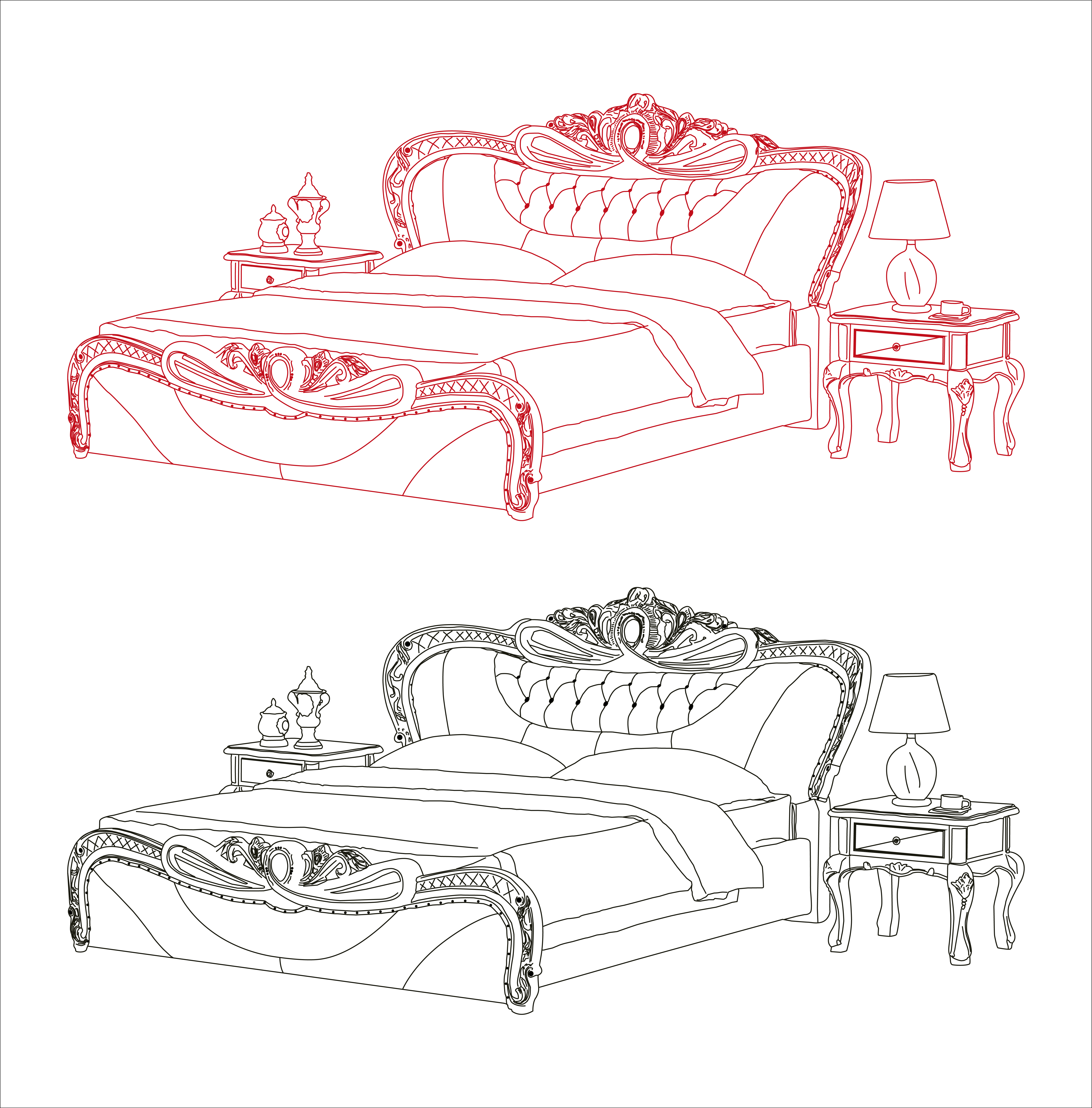 clip art freeuse stock Drawing sheet hospital bed. Frame mattress continental transprent