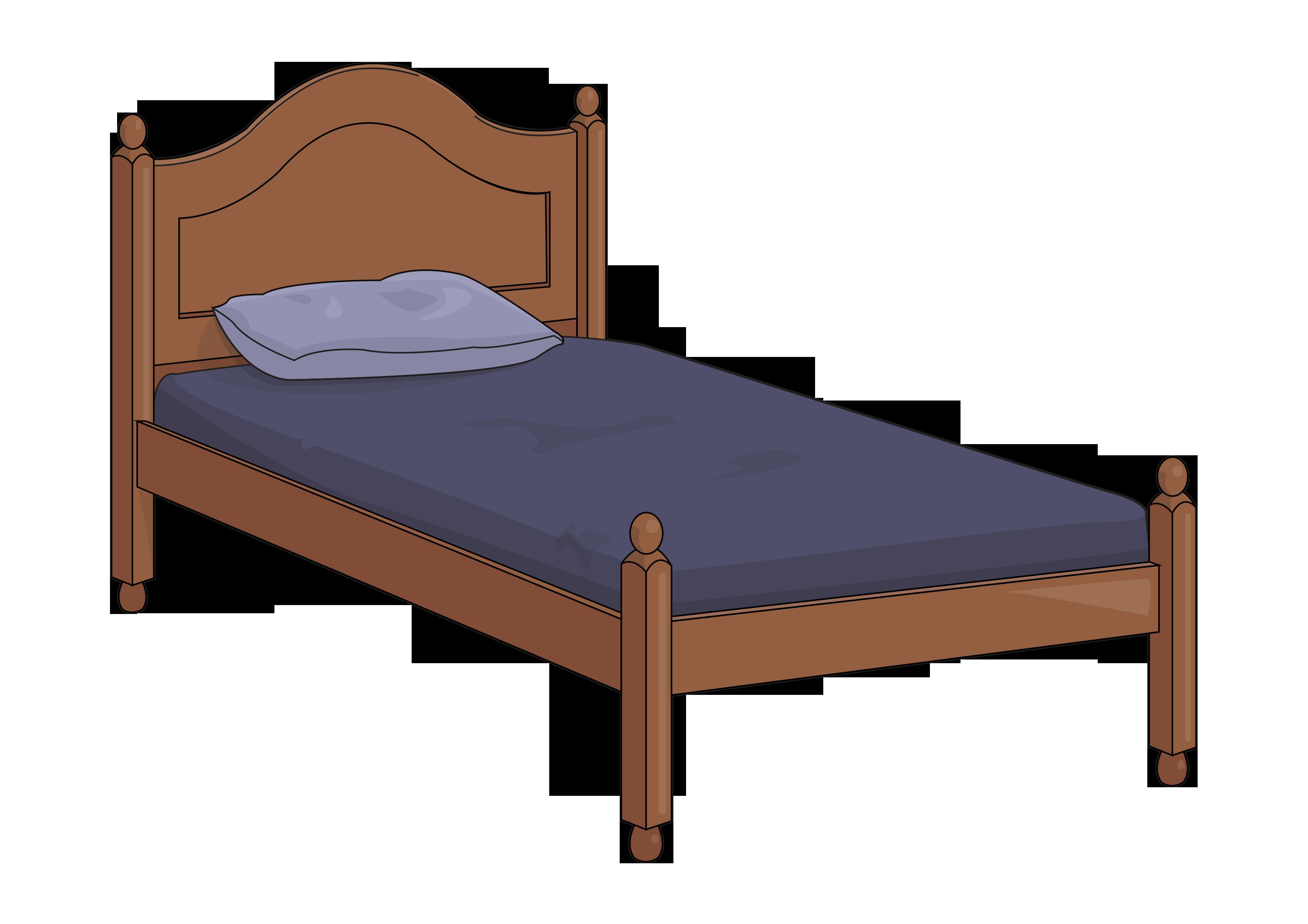 graphic royalty free Drawing sheet hospital bed. Frame mattress sheets cama