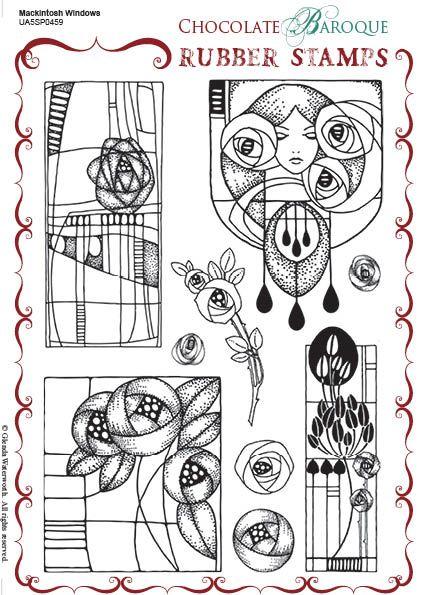 royalty free download Drawing sheet mackintosh. Windows rubber stamp a