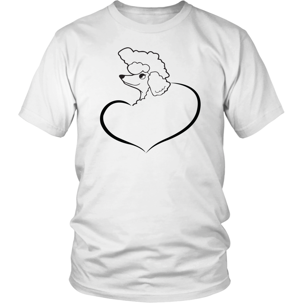 graphic free Poodle shirt heart t. Drawing shirts cute