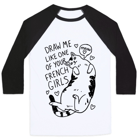 graphic transparent Drawing shirts cute. Cat baseball tees lookhuman