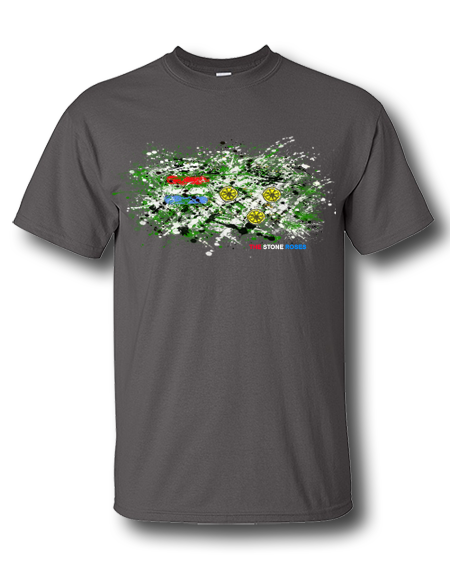 image transparent download Drawing shirts flower. The stone roses splatter