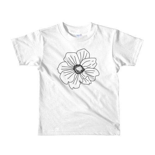 clipart black and white stock Drawing shirts flower. Kids t llama luv