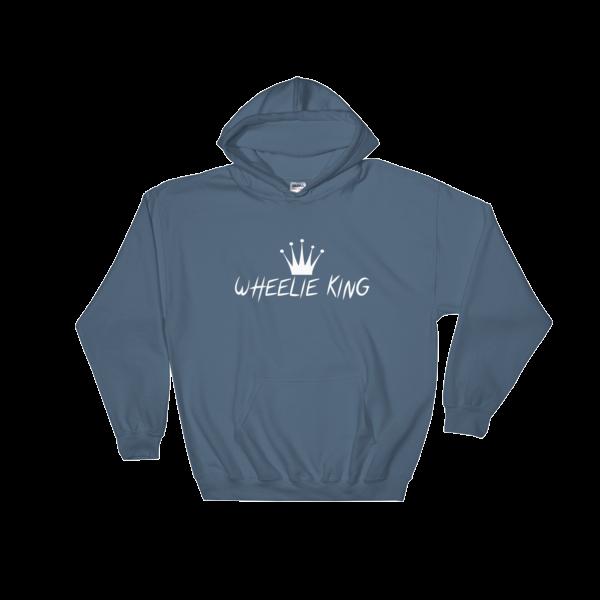 freeuse stock Drawing shirts hoodie. Wheelie king
