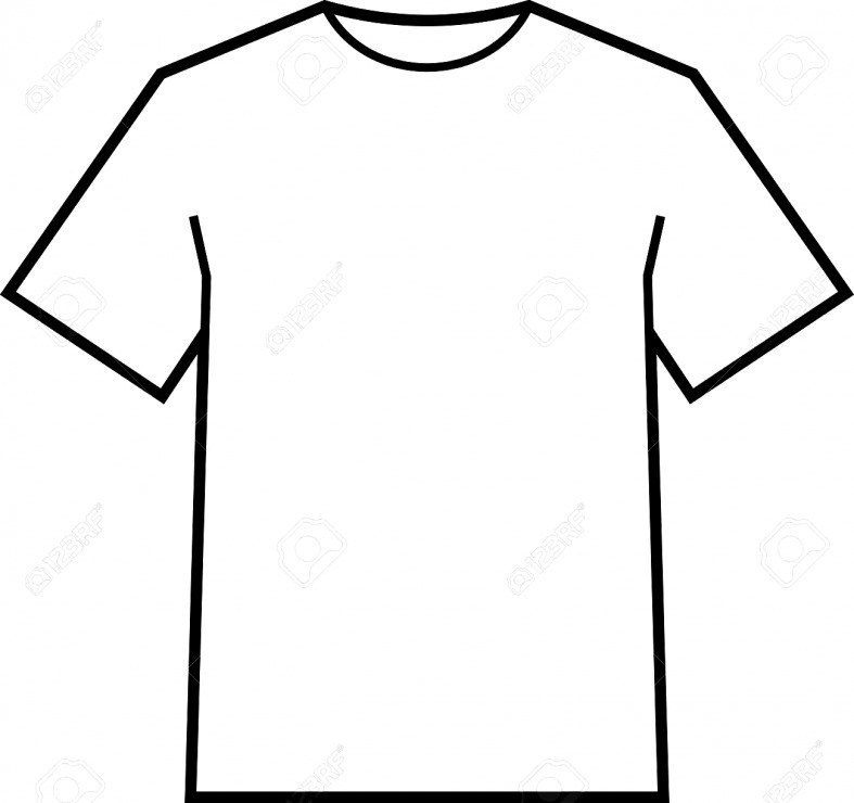 clipart black and white stock Drawing shirts outline. Blank t shirt free