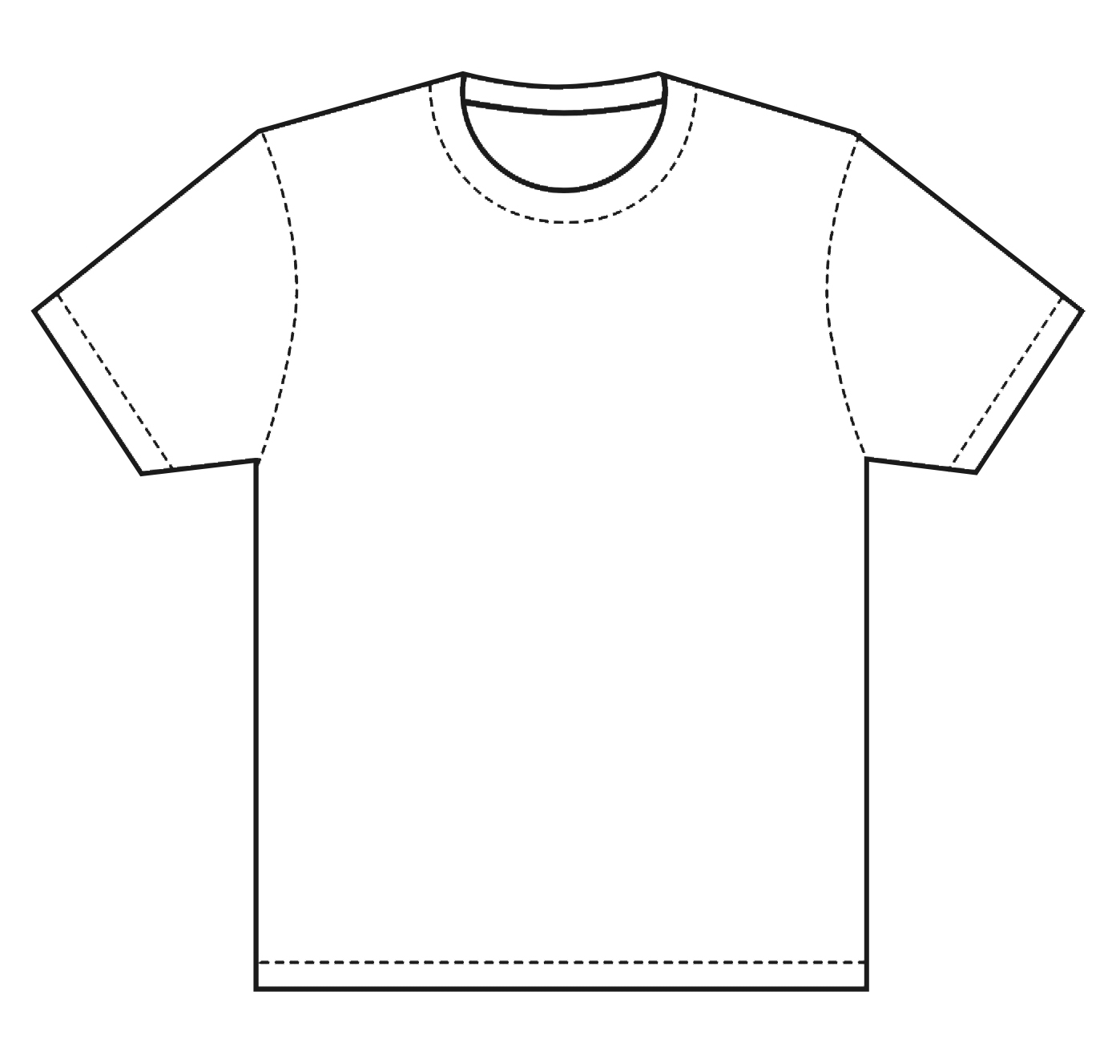 clip art freeuse library Drawing shirts outline. Shirt at paintingvalley com