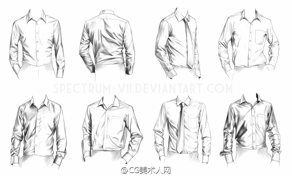 vector freeuse stock Drawing shirts suit.  fashion ropa dibujo