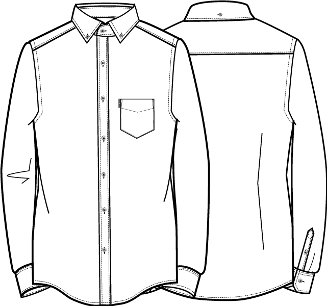image free library Dress shirt at paintingvalley. Drawing shirts suit