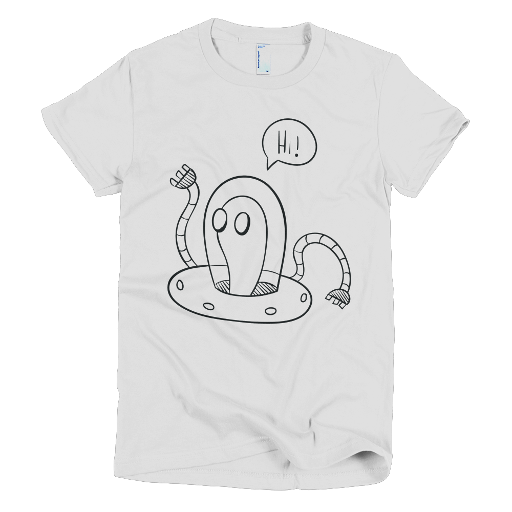svg black and white library Drawing shirts unique. Hi alien cool graphic