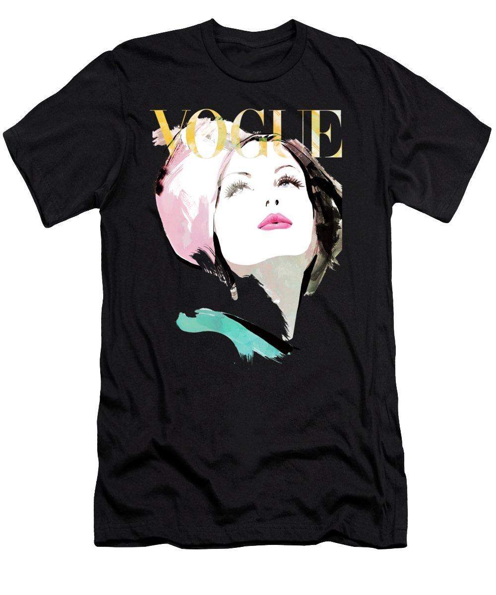 black and white Vogue men s t. Drawing shirts unique