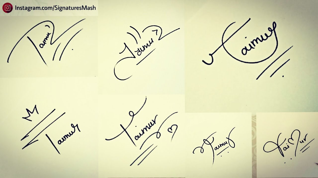 banner free download Drawing signature. How to draw like.