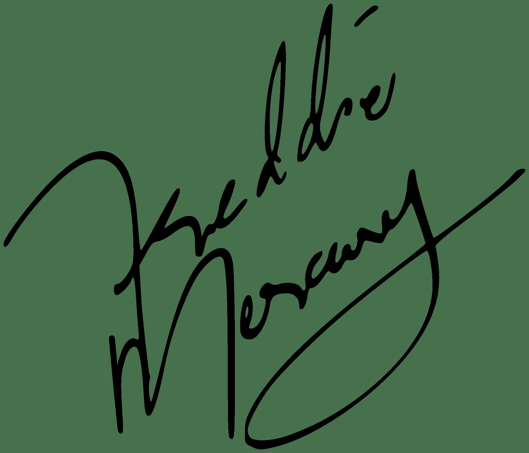 clip transparent library Drawing signature cool. Freddie mercury transparent png