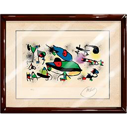banner black and white library Drawing signature joan miro. Lithograph pawn stars the