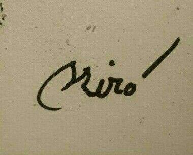 jpg freeuse download Drawing signature joan miro. Mir in monogram art